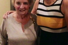 Secretary Albright with guest.