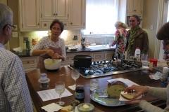 Helen demonstrating her cooking skills.