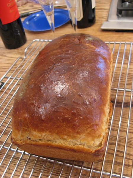 A baked loaf of paska.